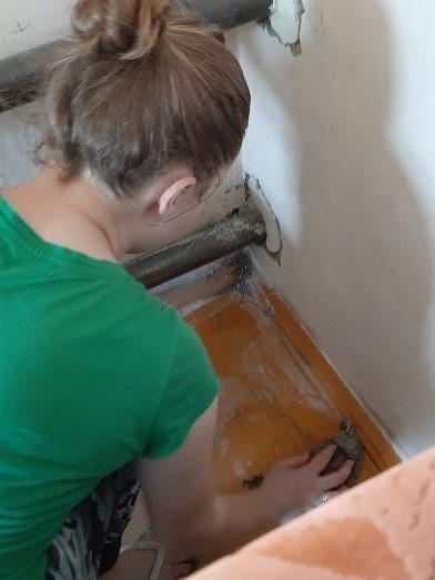 Субботник у ветерана труда в г. Рубцовске (1)